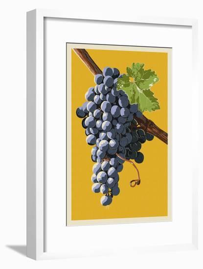 Wine Grapes-Lantern Press-Framed Art Print