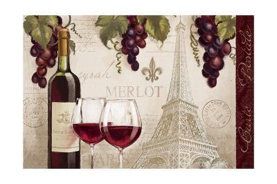 Wine in Paris II-Janelle Penner-Art Print