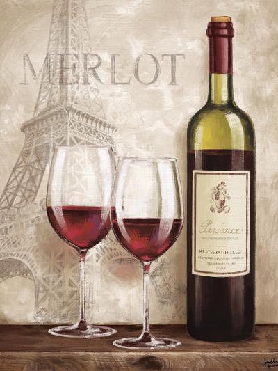 Wine in Paris III-Janelle Penner-Art Print