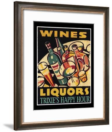Wine Liquors-Tim Wright-Framed Giclee Print