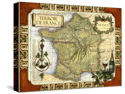 Wine Map of France on CGP