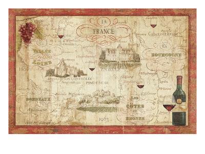 Wine Map-Daphne Brissonnet-Premium Giclee Print