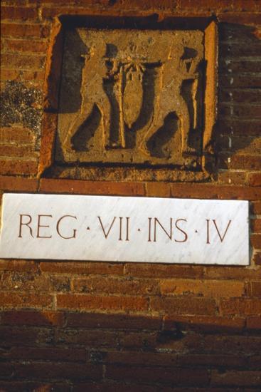 Wine-Merchant's Sign in Pompeii street c1st century-Unknown-Giclee Print