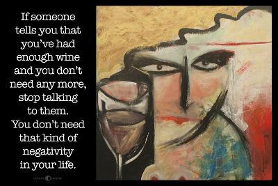 Wine Negativity Poster-Tim Nyberg-Giclee Print
