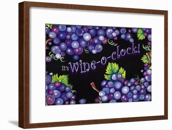 Wine O' Clock Grapes-Cherie Roe Dirksen-Framed Giclee Print