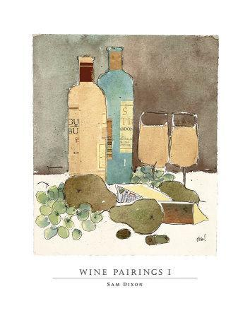 Wine Pairings I-Sam Dixon-Art Print