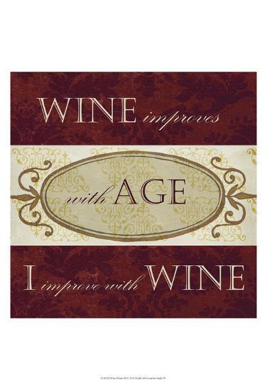 Wine Phrases III-Studio W-Art Print