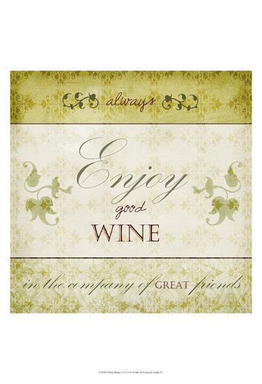 Wine Phrases VI-Studio W-Art Print