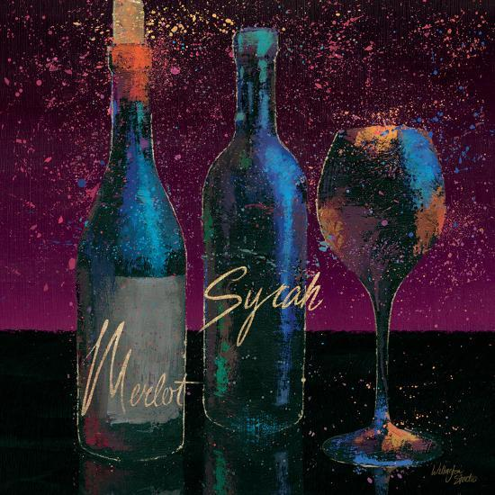 Wine Splash Dark III--Art Print