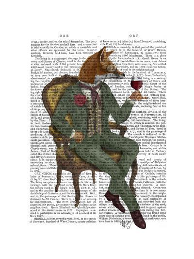 Wine Taster Fox Full-Fab Funky-Art Print