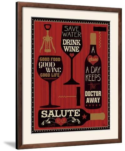 Wine Words II-Pela Design-Framed Photographic Print