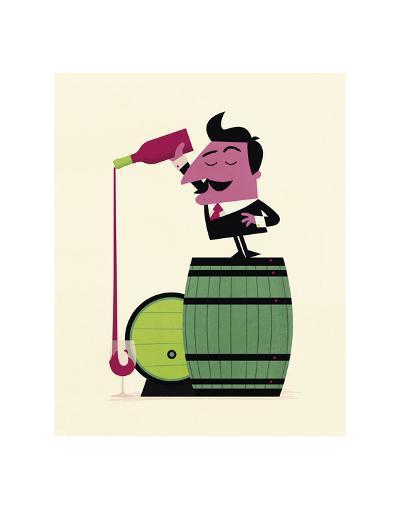 Wine-Spencer Wilson-Art Print