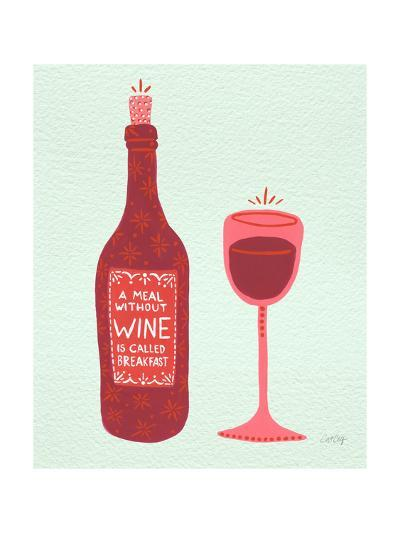 Wine-Cat Coquillette-Giclee Print