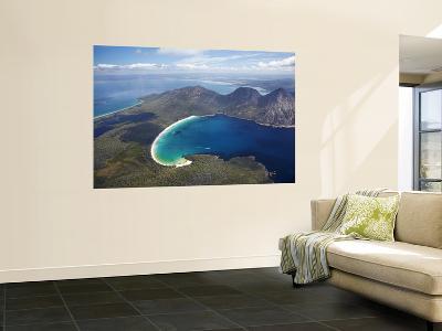 Wineglass Bay and the Hazards, Freycinet National Park, Tasmania, Australia-David Wall-Wall Mural