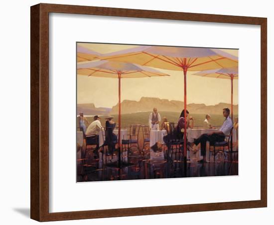 Winery Terrace-Brent Lynch-Framed Art Print