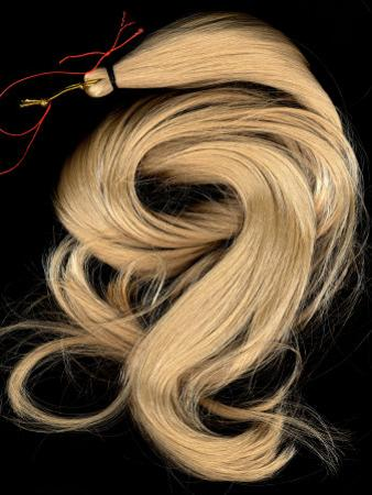 A Lock of Blonde Synthetic Hair
