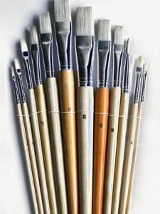Set of Artist Paintbrushes Fan Out by Winfred Evers