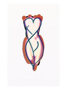 Sexy Heart Shape Figure of Girl Illustration by Winfred Evers