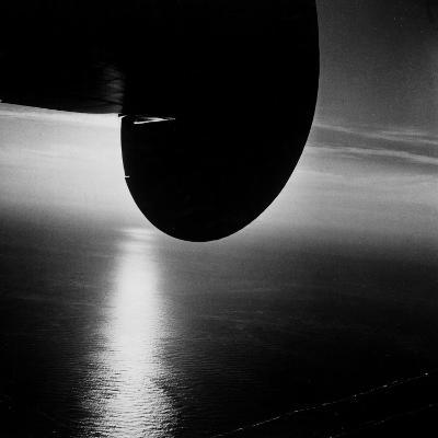 Wing of Plane Showing Above the Atlantic Ocean as Seen from a Pan Am Clipper-Bernard Hoffman-Premium Photographic Print
