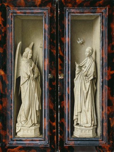 Winged Altarpiece 1437, Exterior Wings: Annunciation-Jan van Eyck-Giclee Print