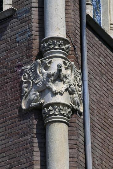 Winged Dragons, Decorative Frieze on Column of Private House of Pere Rull--Giclee Print