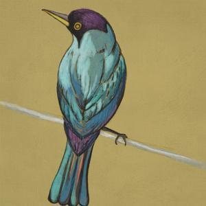 Winged Sketch I on Ochre