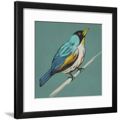 Winged Sketch II on Teal-Chariklia Zarris-Framed Giclee Print