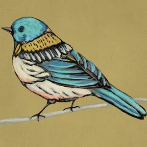 Winged Sketch III on Ochre