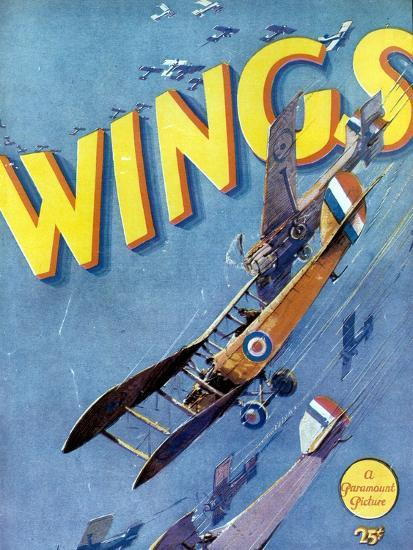 Wings, 1927, Directed by William A. Wellman--Giclee Print
