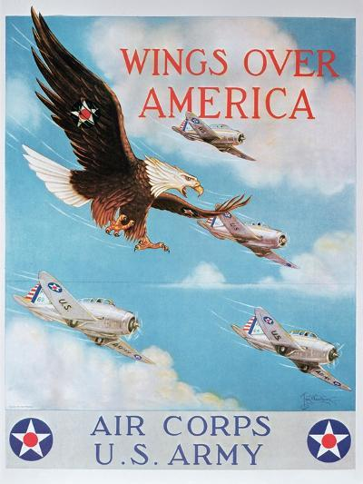 Wings of America'- Us Air Corps Recruiting Poster, 1938--Giclee Print