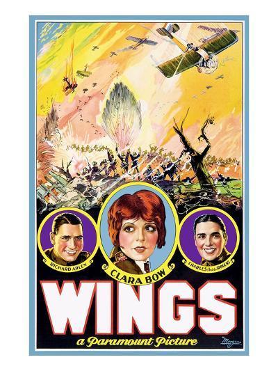 Wings, Richard Arlen, Clara Bow, Charles (Buddy) Rogers, 1927--Photo