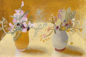 Honeysuckle and Sweet Peas by Winifred Nicholson