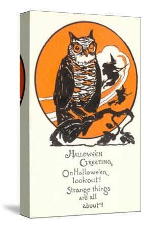 Winking Owl and Witch on Broom