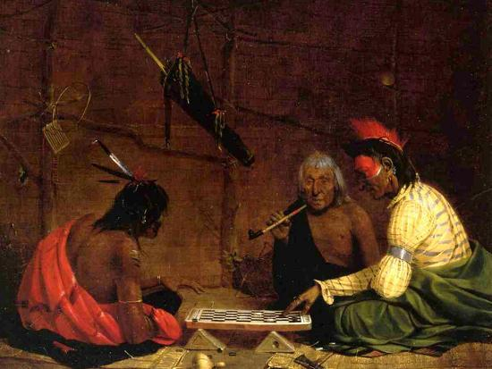Winnebago Indians Playing Checkers, 1842-Charles Deas-Giclee Print