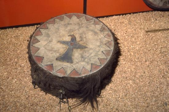 Winnebago Tribe, North American Indian Double headed Drum-Unknown-Giclee Print