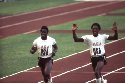Winners of the 400-Meter Relay Race at the 1972 Summer Olympic Games in Munich, Germany-John Dominis-Photographic Print