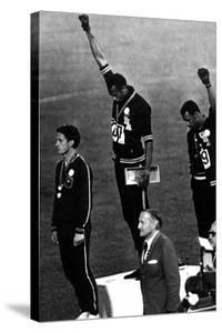 Winners of the Men's 200 Metres on the Podium, 1968 Olympic Games, Mexico City