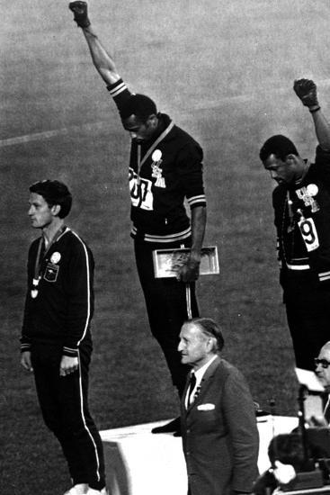 Winners of the Men's 200 Metres on the Podium, 1968 Olympic Games, Mexico City--Photo