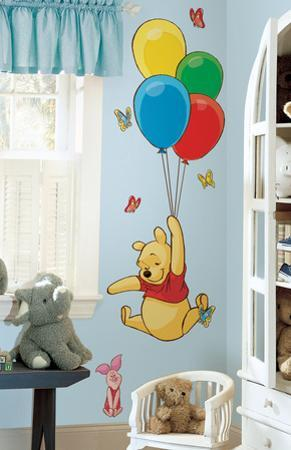 Winnie the Pooh - Pooh & Piglet Peel & Stick Giant Wall Decal