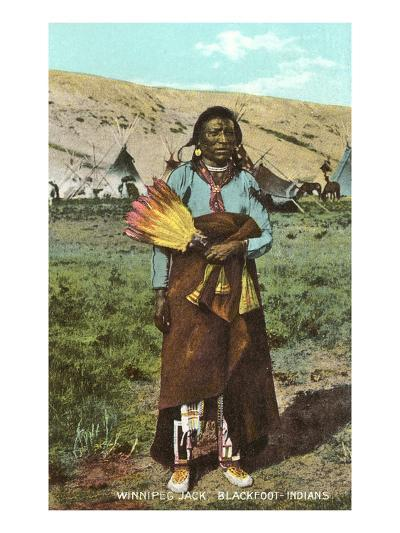 Winnipeg Jack, Blackfoot Indian--Art Print