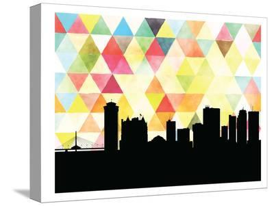 Winnipeg Triangle-Paperfinch 0-Stretched Canvas Print