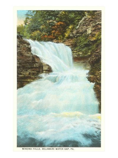 Winona Falls, Delaware Water Gap, Pennsylvania--Art Print