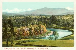 Winooski Valley and Mt. Mansfield, Burlington, Vermont