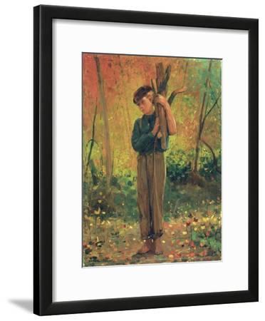 Boy Holding Logs, 1873