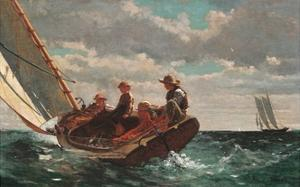Breezing up (A Fair Wind) by Winslow Homer by Winslow Homer