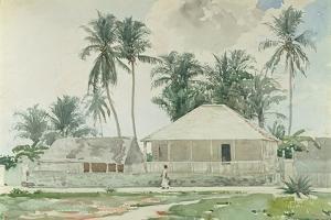 Cabins, Nassau, 1885 by Winslow Homer