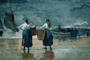 Fisher Girls by the Sea by Winslow Homer