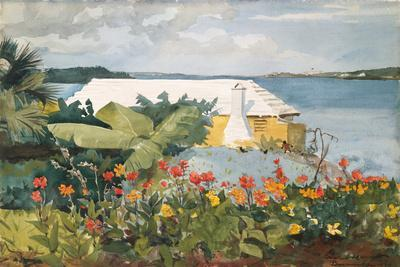 Flower Garden and Bungalow, Bermuda, 1899