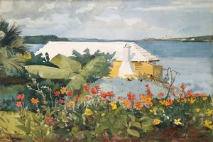 Flower Garden and Bungalow, Bermuda, 1899 by Winslow Homer