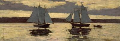 Gloucester, Mackerel Fleet at Sunset, c.1884